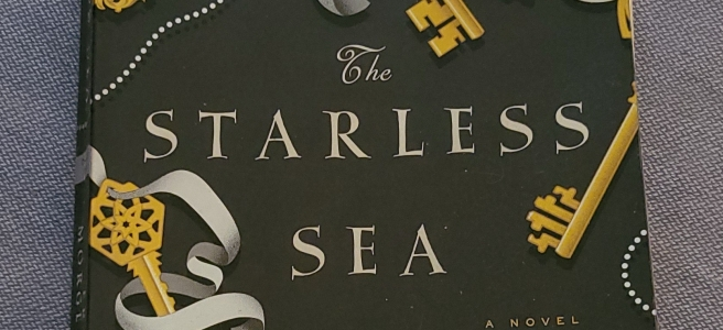 A well-loved, worn out copy of The Starless Sea by Erin Morgenstern